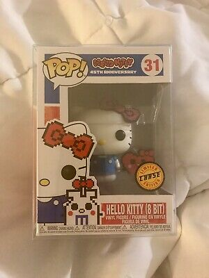 Funko Pop! Hello Kitty CHASE (8-bit 45th Anniversary) #31 IN POP! PROTECTOR