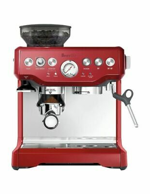 Breville the Barista Express Coffee Machine Cranberry BES870CRN
