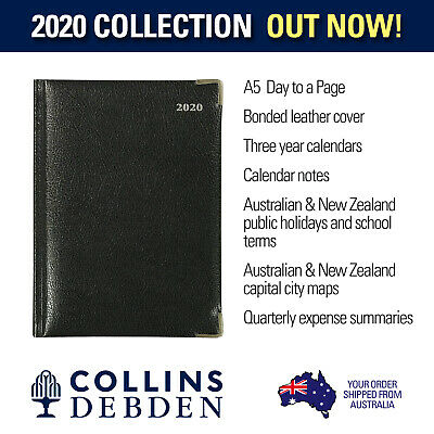 Management Bonded Leather A5 Day to Page Diary 2020