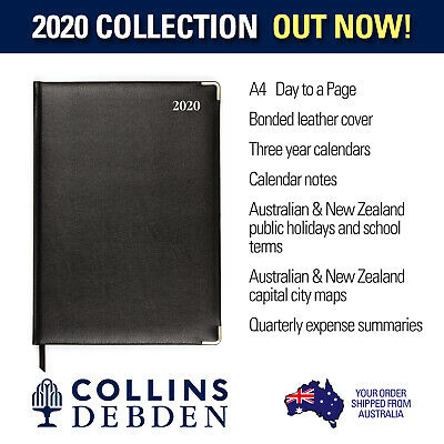 Management - Bonded Leather - A4 - Day to Page - Diary 2020