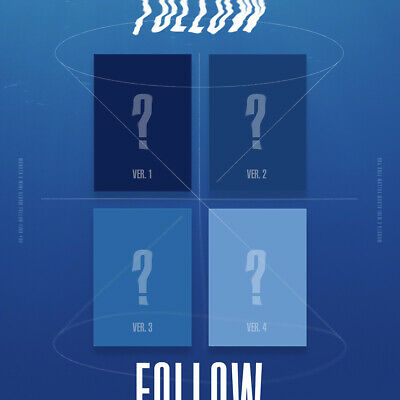 MONSTA X - FOLLOW - FIND YOU [1+2+3+4 ver. SET] 4CD+4PO Benefit+4Posters