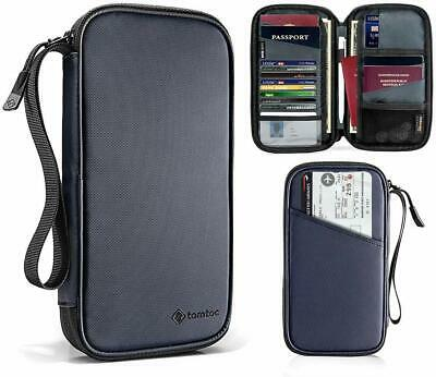 Family Passport Holder RFID Blocking & Waterproof Travel Wallet Ticket Organizer