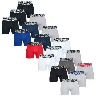 """Under Armour 2019 Mens Charged Cotton 6"""" Stretch BoxerJock Underwear 3-Pack"""