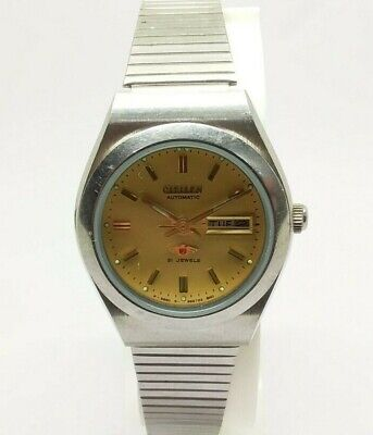 Vintage Women's Used Citizen 21 Jewels Automatic Day & Date Working Wrist Watch