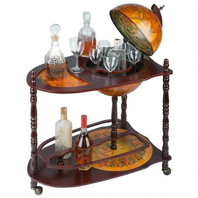 Vintage Italian Style 16th C. Replica World Globe Extended Wine Spirits Bar Cart