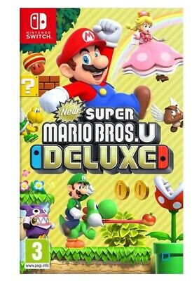 Jeu Switch Super Mario Bros.U Deluxe Neuf Noel Cadeau Game Console