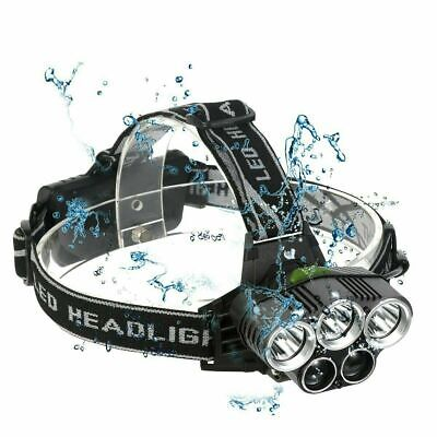Zoom Headlamp Head Torch 90000LM Rechargeable T6 LED Headlight Flashlights Fish