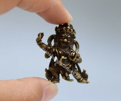 3.5 CM Tibet Bronze Mahakala god of wealth Buddha amulet Necklaces & Pendants