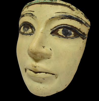 ANCIENT EGYPT ANTIQUE Egyptian stone wall mask a