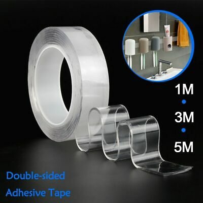 Nano Magic Tape Sticker Adhesive Transparent Double-sides Traceless Waterproof