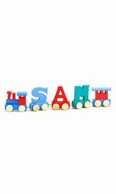 Personalised Letter Name wooden train Christmas Gift Toy