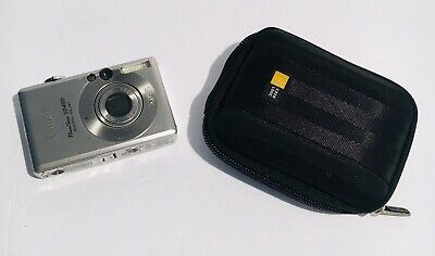 Canon Powershot Digital SD450 Elph 5.0 Mega Pixel Silver Camera W/ Case - Tested