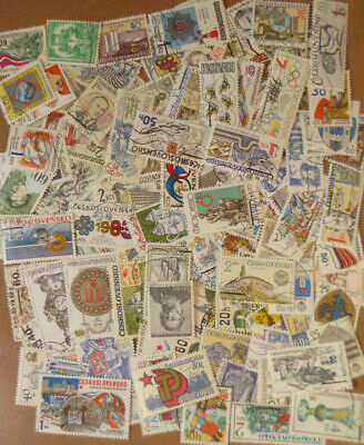 CZECHOSLOVAKIA STAMP COLLECTION PACKET 100 DIFFERENT Large POSTAGE STAMPS Used