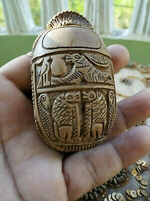 RARE ANCIENT EGYPTIAN ANTIQUE Scarab Carved  Stone For decoration