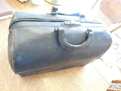 1880 Emdee by Schell Antique medical bag, doctor, leather, large,country doctor