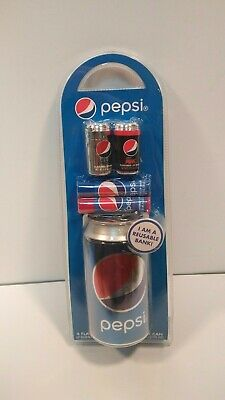 Pepsi Cola BANK CAN / SAFE  with 4 LIP BALMS Collector's Item NEW!!