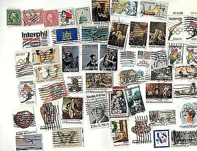 Lot #15  50 Different US Vintage Used Stamps from Old Collection  FREE POSTAGE