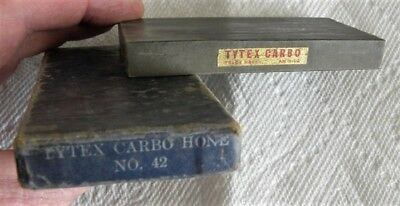 Vintage Tytex Carbo Hone No.42, AM H Co., Straight Razor Sharpening Stone in Box