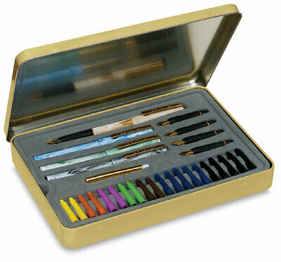Staedtler Calligraphy Set, 4 Pens, 5 Nibs, Ink Cartridges in Presentation Tin
