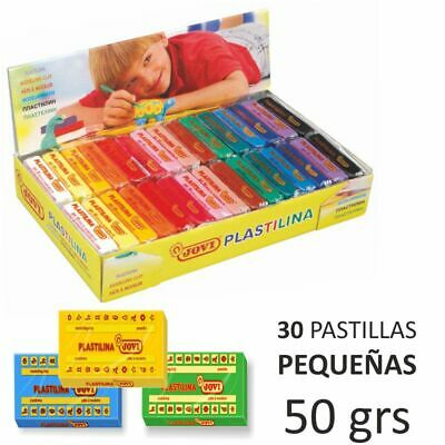30x 50g Multicolor Jovi Plastilina Reusable Clay Play Non-Drying Modelling