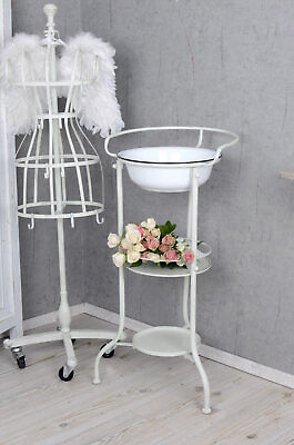 Wash Bowl with Stand Cleaning Set Basin Dish Cottage Wash Dishes Wash