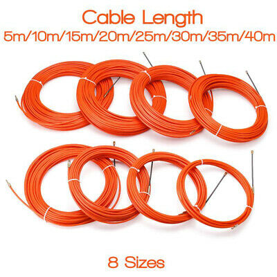 Flexible Wire Cable Rod Electrician Push Puller Duct Fish Tape Tool