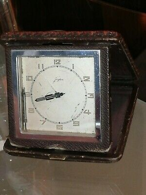 RARE Junghans Germany Cased Travel  Alarm Clock vintage  1949s