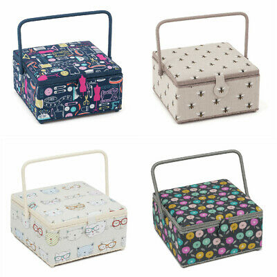 Hobby Gift Jumbo Square Sewing Box Basket Crafts Knitting Arts