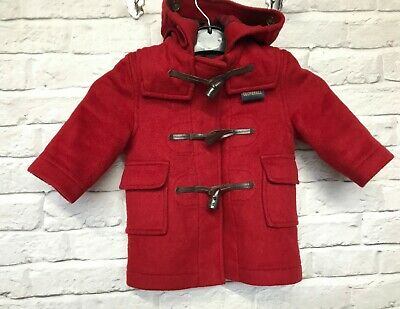 Gloverall red childrens duffel coat size 1 year