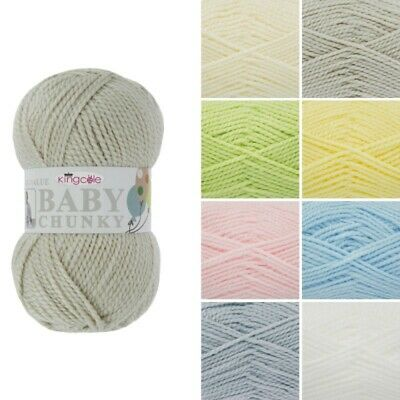 King Cole Big Value Baby Chunky Wool Yarn Knitting Premium Acrylic 100g
