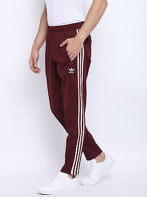 ADIDAS BECKENBAUER TRACK Pants in Black & White 3 stripe