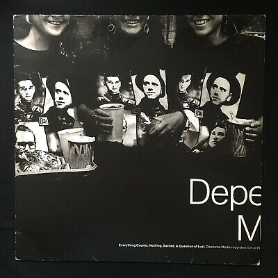 """DEPECHE MODE Everything Counts/Nothing LIVE MUTE 1989 12 BONG 16 VINYL 12"""""""