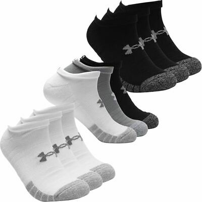 Under Armour 2019 HeatGear NS Anti-Odor Arch Support Training Socks Pack of 3