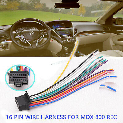 Car Stereo Audio Install Wire Harness 16 Pin Connector For Sony XAV-7W, MEX-5HD