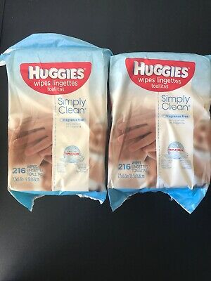 HUGGIES Simply Clean Fresh Scented Baby Wipes Soft Pack, 432 Count.Free Shipping