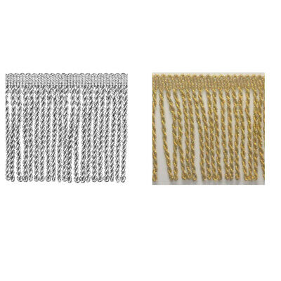 Metallic Bullion Fringe Trimming Upholstery Trim Gold or Silver