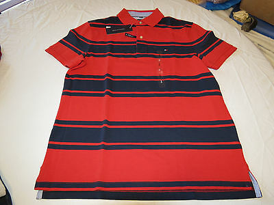 Mens Tommy Hilfiger Polo shirt Striped 7880966 Formula One 649 S Classic Fit NWT