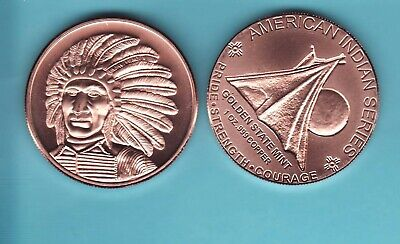 1 Oz CHIEF SITTING BULL Copper Round American Indian Series   #86