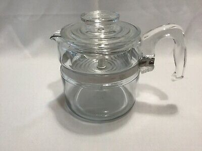 Vintage Pyrex Percolator 4 Cup Stove Top Coffee Pot 7754 Complete