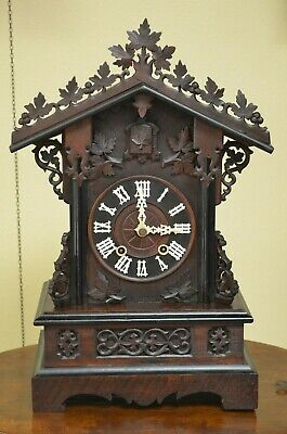 Antique German Black Forest Train Style Phs Shelf/Mantel Cuckoo Clock Rare!