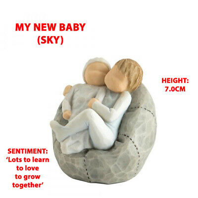 Willow Tree My New Baby (Sky) Figurine 27703 Brand New & Boxed - RRP £24