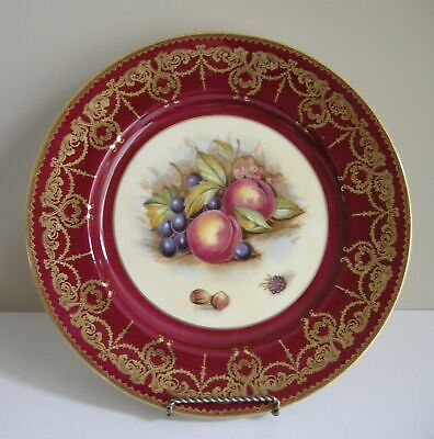 Aynsley Fruit Cabinet Plate Signed D. Jones -Perfect