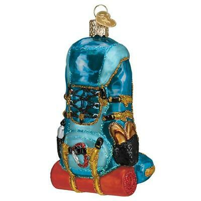 """Hiking Backpack"" (44143)X Old World Christmas Glass Ornament w/OWC Box"