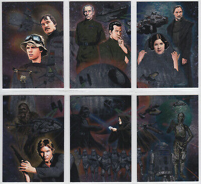 2013 Topps Star Wars Illustrated Etched Foil Card You Pick Finish Your Set