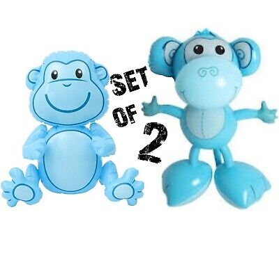 "Inflate Up Toy Party Decoration 24/"" Brown Sloths Monkey Inflatable Set of 2"