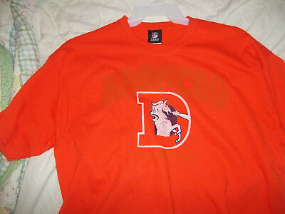 NEW XL Denver Broncos old school tee Shirt NFL Football mile high colorado