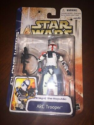 Star Wars The Clone Wars ARC TROOPER RED ARMY OF THE REPUBLIC 2003 Brand New!