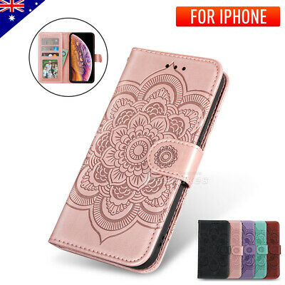 iPhone XS Max XR X Magnetic Leather Wallet Shockproof Stand Case Cover For Apple