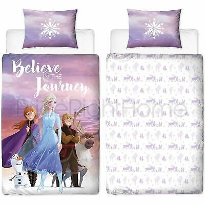 Disney Frozen 2 Journey Single Duvet Cover Set Reversible Bedding Kids