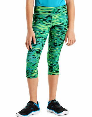 Hanes Girls' Performance Capri Leggings Sport Cool DRI Comfort Stretch Tag Free